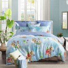 博洋家纺 双面天丝四件套 床上用品床单被套 新品 仲夏睡美人