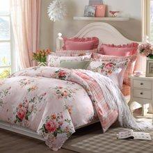 博洋家纺 高支全棉印花床上用品床单四件套-陌上香影