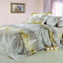 全棉活性贡缎四件套纯棉结婚庆床上用品欧式床笠4件套米卡多家纺A211
