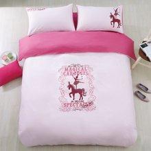 芒更家纺 床上用品 活性印花四件套 床品套件 全棉斜纹 双人1.5米/1.8米床