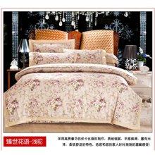 羽芯家纺 活性印染 宫庭奢华风全棉贡缎提花床上用品四件套YC20140022臻世花语