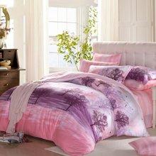 博洋家纺 纤栩绒磨毛保暖床单四件套-秘境