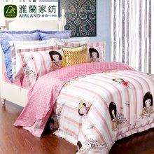 雅兰家纺 卡通款全棉40支斜纹床单四件套 童梦纪念册