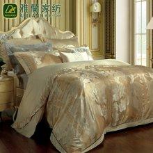 雅兰家纺 高档提花套件床单四件套盖被五件套 莱茵河之恋