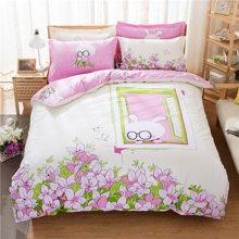 VIPLIFE家纺 全棉四件套纯棉床上用品床单被套青春靓丽时尚风格床品套件