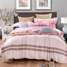 VIPLIFE家纺 全棉四件套纯棉床上用品床单被套简约时尚风格床品套件