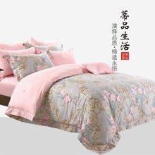 蒂品生活(DIPINHOME)家纺 花满秋色纯棉四件套 AB版田园风格床上用品 两人用