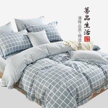 蒂品生活(DIPINHOME)家纺 纯良品简约风格四件套 AB版欧式灰色床上用品 两人用