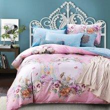 羽芯家纺全棉斜纹活性印染个性时尚系列床上用品四件套YC860067