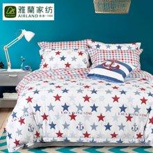 雅兰家纺 时尚全棉40支星星四件套高支高密床单套件 星语