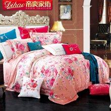 帝豪家纺 韩式田园床单四件套纯棉加厚被套花朵套件全棉4件套