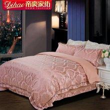 帝豪家纺 正品贡缎大提花欧式床单四件套1.5m床 1.8m床被罩简约奢华4件套