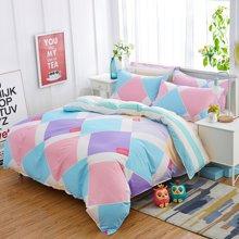 VIPLIFE家纺 时尚简约条纹全棉四件套纯棉床上用品床单被套床品套件