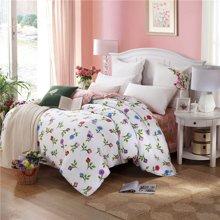 VIPLIFE家纺 清新文艺全棉四件套纯棉床上用品床单被套床品套件