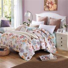 VIPLIFE家纺 清新田园花卉全棉四件套纯棉床上用品床单被套床品套件
