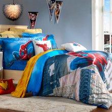 雅兰家纺 迪士尼床单/床笠四件套卡通床上用品 儿童套件 精品蜘蛛侠 蓝色