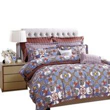 富安娜家纺 床上用品四件套 1.5米/1.8米床纯棉套件 罗纳记忆