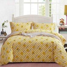 雅兰家纺 卡通儿童全棉四件套 40支斜纹床单床笠套件 英国正版授权奇先生妙小姐 自在方式