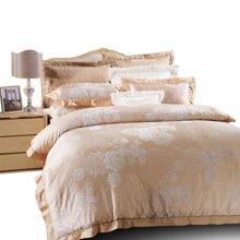 富安娜家纺床上用品四件套床单4件套 1.5米1.8米双人床四件套圣彼得堡