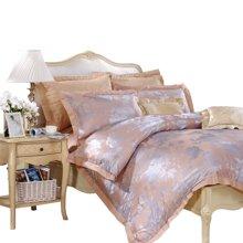 富安娜家纺床上用品四件套床单4件套 大提花四件套爱尔兰之夜