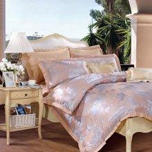 【下单折上8折】富安娜家纺 床上用品四件套 1.5米/1.8米床全棉光亮质感大提花套件 爱尔兰之夜