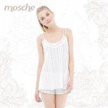 夏白色纯棉蕾丝吊带女短袖睡衣套装 家居服短裤套装包邮4544