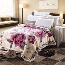 羽芯家纺 加厚双层拉舍尔毛毯 珊瑚绒毛毯 婚庆毯子冬季盖毯YC850031