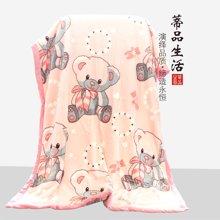 蒂品生活(DIPINHOME)家纺 卡通双层毛毯  宝宝用四季盖毯多种图案 花型随机