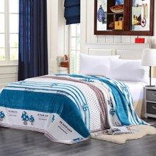 VIPLIFE毛毯 加厚法莱绒毯子沙发午睡毯护腿护肚子披肩毯 简约时尚款
