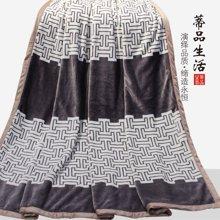 蒂品生活(DIPINHOM)家纺  加厚双层毛毯  垫盖均可 加厚保暖毛毯 花型随机发