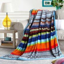 博洋家纺  彩色记忆貂狐绒手感毯 绒毯 毯子