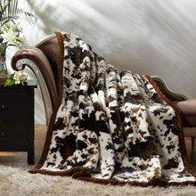博洋家纺  臻享拉舍尔毛毯 绒毯 毯子-轻影生香