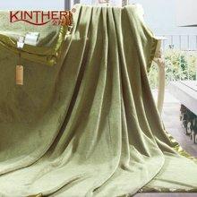 KINTHERI/金丝莉 竹炭纤维毯(军绿) 空调毯空调被四季毯毛毯毛巾被办公室午睡毯休闲毯床单