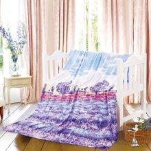 KINTHERI/金丝莉 爱在普罗旺斯薰衣草毯  空调毯空调被四季被法兰绒毛毯毛巾被办公室午睡毯休闲毯床单