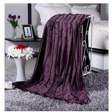 埃迪蒙托超细绒毯(暗紫)(150*200)适用于1.2M床