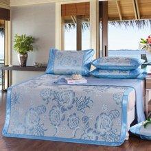 羽芯家纺 提花冰丝席 夏天空调席夏凉席单双人席子床上用品二件套/三件套YC870018