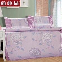 俞兆林家纺 冰丝凉席1.8m床冰丝席三件套 可折叠单双人1.5夏天席子 YJY3003