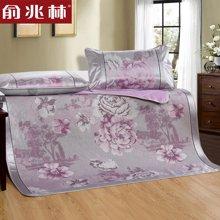 俞兆林家纺 冰丝凉席1.8m床冰丝席三件套 可折叠单双人1.5夏天席子 YJY3001