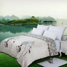 帝豪家纺 提花被套单件 1.2米床 1.5米床 1.8米床 纯棉被罩  蓝艺雅轩