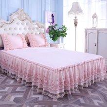 羽芯家纺 优雅立体舒适透气蕾丝床裙
