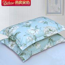 帝豪家纺 全棉枕套一对装 纯棉成人单人枕头套 意国浪漫
