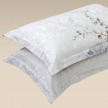 帝豪家纺 全棉枕套一对装 纯棉成人单人枕头套 蓝艺雅轩