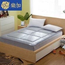 乐加家工 单双人竹炭保暖床笠式床垫加厚床褥1.8m床垫被-竹炭保暖床垫