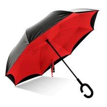 天堂伞反向伞双层免持式长柄双人晴雨两用伞汽车车载反转雨伞13026E翻转伞