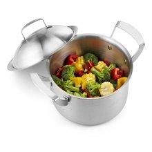 德国司顿 26cm不锈钢汤锅汤煲三层底 304不锈钢 煤气电磁炉通用