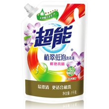 JJ超能植翠低泡洗衣液(鲜艳亮丽)HN3(1kg)