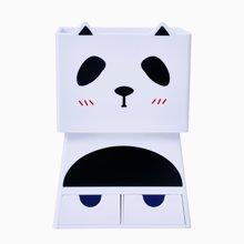 上品汇熊猫收纳笔筒韩版创意时尚办公礼品笔筒学生艺术塑料笔筒
