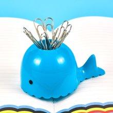 上品汇鲸鱼别针磁吸座办公学生回形针收纳创意带磁性桌面整理用品