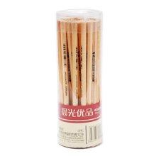 晨光AWP30401铅笔原木桶装六角铅笔HB小学生儿童铅笔素描写字笔