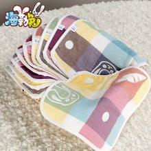 海勒兔 婴儿汗巾儿童小方巾纯棉方巾卡通垫背巾